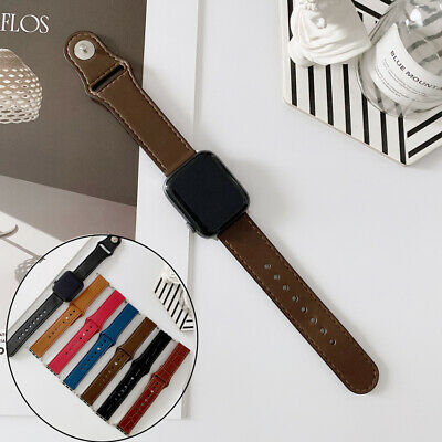 AU13.08 • Buy For Apple Watch Series 6 5 4 3 2 SE Wristband Strap Leather Band IWatch Sport