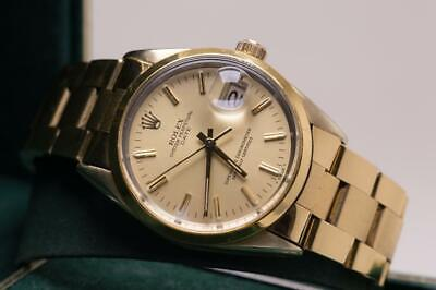 £3950 • Buy Vintage Rolex Oyster Perpetual Date Ref 15505 Wristwatch Box & Papers 1982