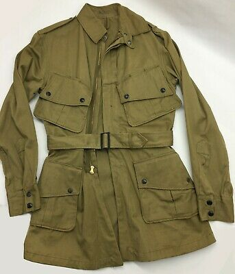 $52 • Buy  WWII US AIRBORNE PARATROOPER M1942 M42 JUMP JACKET-36L Reproduction?