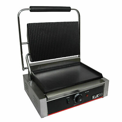 £84 • Buy Panini Maker Press Grooved / Flat Contact Grill Toaster Sandwich Machine A5408