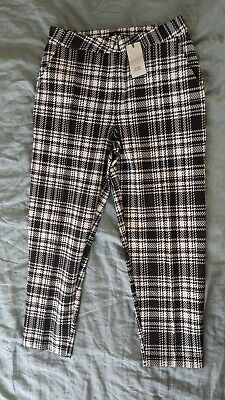 £15 • Buy River Island Check Dogtooth Trousers - NEW WITH TAGS - SIZE 10R