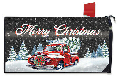 $16.99 • Buy Merry Christmas Pickup Magnetic Mailbox Cover Wreath Standard Briarwood Lane