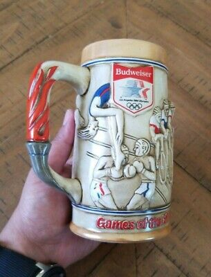 $ CDN34.68 • Buy 1980 Budweiser Olympic Stein In Sponsorship Of The 1984 Los Angeles Olympics