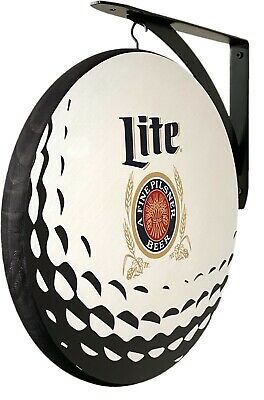 $59.99 • Buy Miller Lite Golf Ball Double Sided 12  Pub Sign