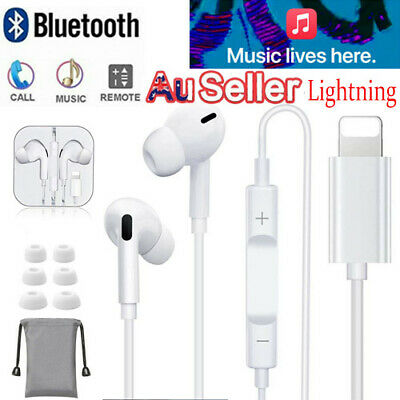AU14.89 • Buy Wired Bluetooth 8pin Earphones Headphones Mic For Apple IPhone12 11 8 7 X Xs XR