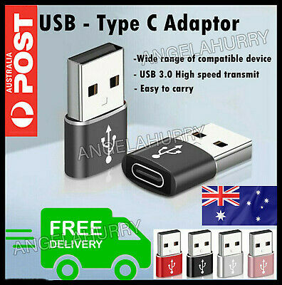 AU2.99 • Buy USB Type A Male To USB C 3.0 Type C Port Adapter Fast Cable Converter