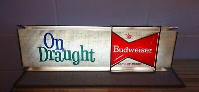 $ CDN377.65 • Buy Vintage 1961 Budweiser King Of Beers On Draught Illuminated Sign