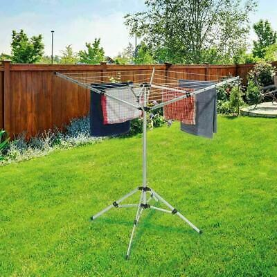 £35.99 • Buy Camping Clothes Airer With 4 Arms And 50m Washing Line Portable Dry Rack