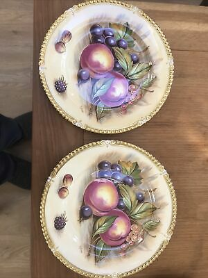 £20 • Buy Aynsley Orchard Gold Plates X2 Signed D Jones