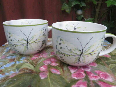 £9.95 • Buy Large NEXT Cappuccino Cups  With Butterfly Design .
