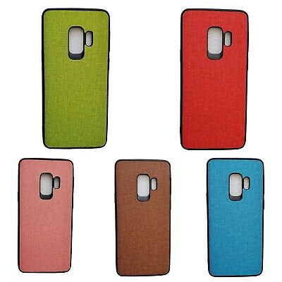 $ CDN4.94 • Buy Samsung Galaxy S9 Fabric Texture PU Leather Rugged Bumper Back Case Covers