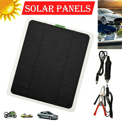 £14.89 • Buy 12V/20W Portable Solar Panel Trickle Battery Charger Car Boat Supply Outdoor