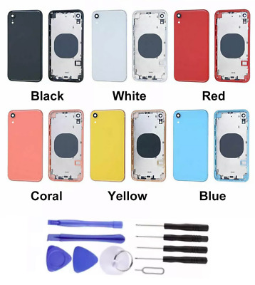 £19.49 • Buy COMPLETE METAL BACK HOUSING FRAME BATTERY CASE COVER REPLACEMENT FOR IPhone XR