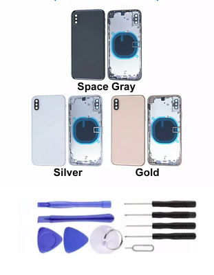 £37.99 • Buy For IPhone X XS MAX Housing Metal Frame Glass Back Chassis Cover Replacement