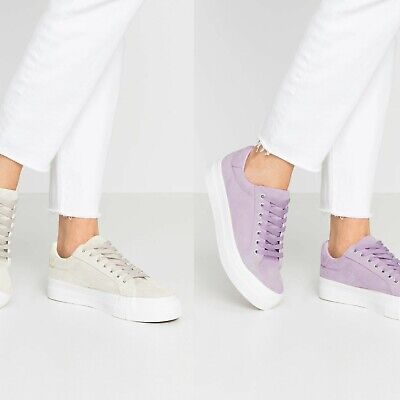£12.95 • Buy Womens Simply Be Wide/Extra Wide Fit Plain Micro Suede Uppers Platform Trainers