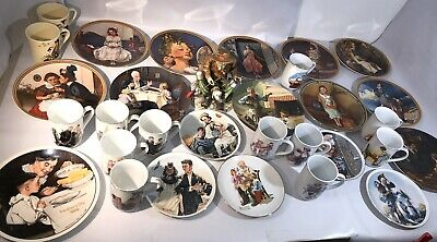 $ CDN125.88 • Buy Norman Rockwell 30pc Lot Plates, Mugs Figurine Vintage Collector's Lot