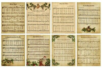 £3.95 • Buy CHRISTMAS MUSIC BACKING PAPERS - 4 Or 12 X A4 Sheets- 160gsm - CARD MAKING