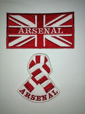 £3.25 • Buy ARSENAL - UNION JACK - SCARF - Iron On / Sew On Patch - FREE POST