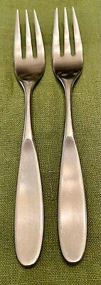 $49.95 • Buy 2 MCM Towle LAUFFER MAGNUM 18/8 SATIN Stainless NORWAY 3-Tine  SALAD FORKS