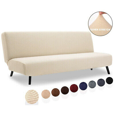 AU25.99 • Buy Armless Sofa Bed Cover Stretch Slipcover Folding Couch Futon Protector