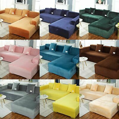 AU25.99 • Buy Velvet Plush Sofa Cover Stretch Couch Cover Furniture Protector For 1/2/3 Seater