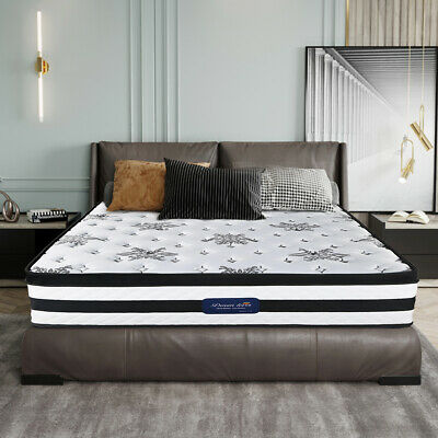 AU161.10 • Buy Double Queen King Single Bed Mattress 7-Zone Pocket Spring Foam 32CM Thick