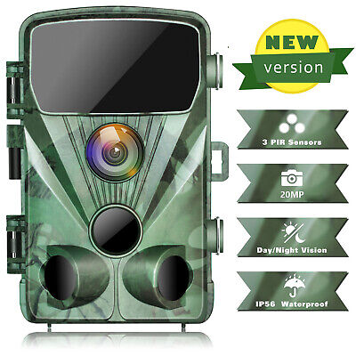 £39.90 • Buy Outdoor Trail Wildlife Camera 20MP FHD 1080P 3 PIR Hunting Game Cam Night Vision