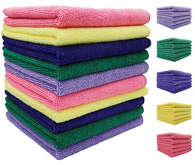 £1.99 • Buy Large MICROFIBRE CLEANING CLOTHS Soft Towels For Home Kitchen Auto Car Polishing