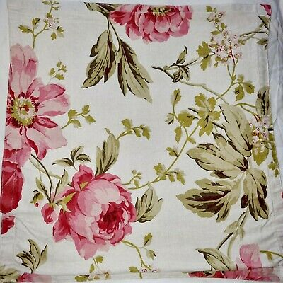 £3.50 • Buy Roses Leaves Country Chic Double Sided Cushion Cover To Fit 17 X 17 See Others