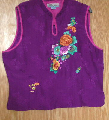 £3.99 • Buy Monsoon Top Size 6, Pure Silk, Embroidered, Mandarin Collar Style