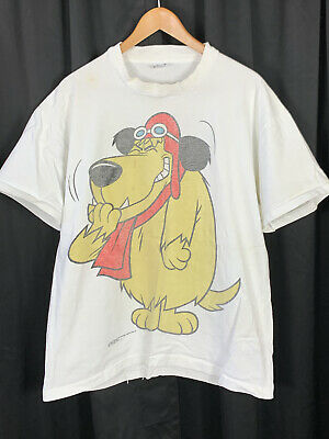 £216.31 • Buy Vintage 90s 1993 Changes Wacky Races Muttley T Shirt Big All Over Print Dog XL