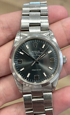 $ CDN5601.88 • Buy Rolex Air King Blue Dial Stainless Steel Watch 14000 No Holes