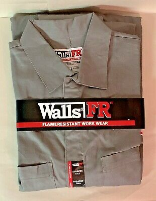 $34.99 • Buy Walls FR Flame Resistant Work Wear Coveralls 2XL Tall Gray NWT