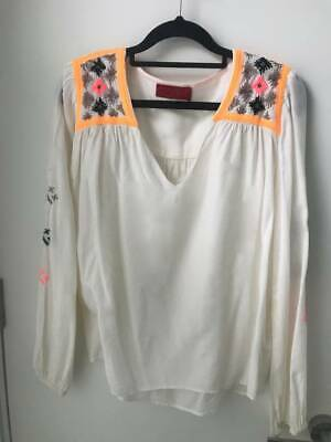 AU35 • Buy Tigerlily Embroided Blouse Size 10. As New Paid $99