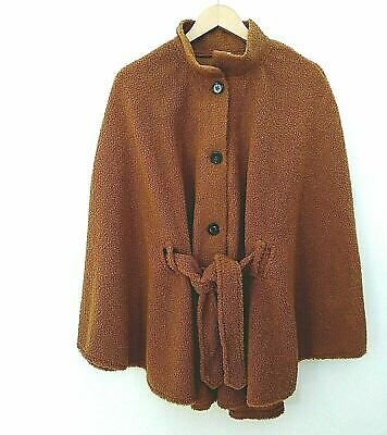 £13.15 • Buy Women's Belted Cape Unlined Rust One Size New Directions Sherpa