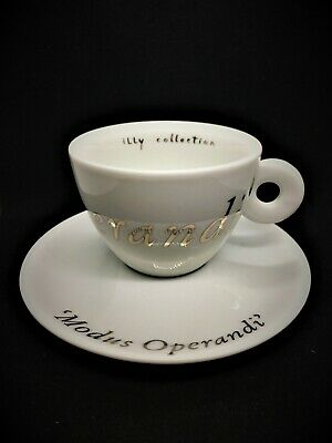 £99 • Buy Illy Art Collection - JOSEPH KOSUTH 2000 -2 Cappuccino Cups 2 Saucers