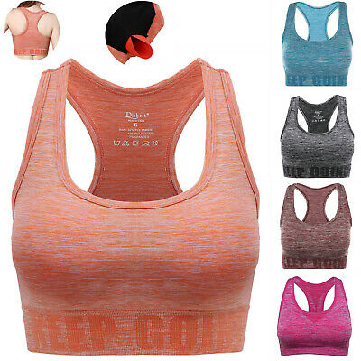 £7.99 • Buy Womens Padded Sports Bra Full Coverage Crop Top Vest Workout Running YOGA Tank