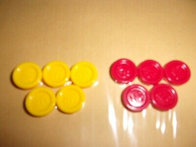 £4.75 • Buy  MB Travel Games - Connect 4... 10 Spare Red & Yellow Counters. FREE POSTAGE