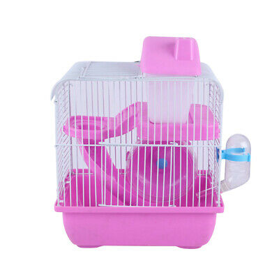 £12.29 • Buy 2-Tier Hamster Cage Small Rodent House Gerbil Mice Mouse Cages Animal Play Home