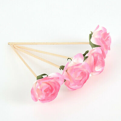AU5.09 • Buy 4PCS Rattan Reed Diffuser Sticks Rose Flower Aromatherapy Fragrance Refill Home
