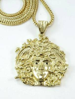 £17.30 • Buy Gold Plated MEDUSA Pendant Necklace 36  Franco Chain 2021