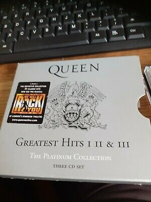 £14.95 • Buy Queen Greatest Hits 1 2 & 3 Boxset 3cd Near Mint Very Best Of 51 Hits Fastpost