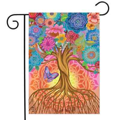 £6.50 • Buy Tree Of Life Inspirational Garden Flag Spring Floral Butterfly 12.5  X 18