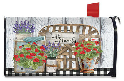 $16.99 • Buy Faith And Family Farmhouse Spring Magnetic Mailbox Cover Standard Briarwood Lane