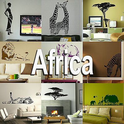 £2.45 • Buy Africa Wall Sticker Home Vinyl Transfer African Graphic Art Decal Decor Stencil