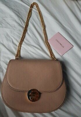 £75 • Buy Coccinelle Pink Nude Chain Bag
