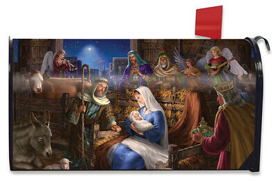 $16.99 • Buy Holy Family Christmas Magnetic Mailbox Cover Nativity Standard Briarwood Lane