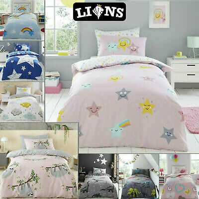 £14.49 • Buy KIDS DUVET QUILT COVER PILLOWCASE Soft Toddler Bedding Set With Fitted Sheet