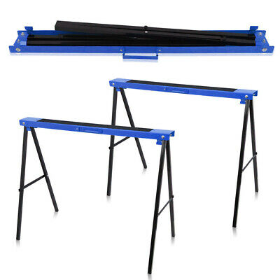 £29.99 • Buy Folding Saw Horse Trestle Twin Metal Support Bars Stands Work Bench UK