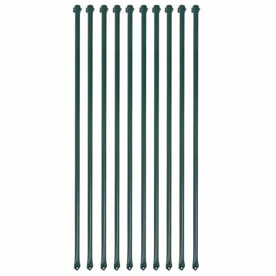 £28.99 • Buy 10x Garden Posts 1 M Metal Green Fencing Plant Supports Spikes Stakes B8F9